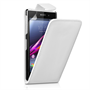 Yousave Accessories Sony Xperia Z1 Leather-Effect Flip Case - White