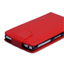 Yousave Accessories Sony Xperia Z1 Leather-Effect Flip Case - Red