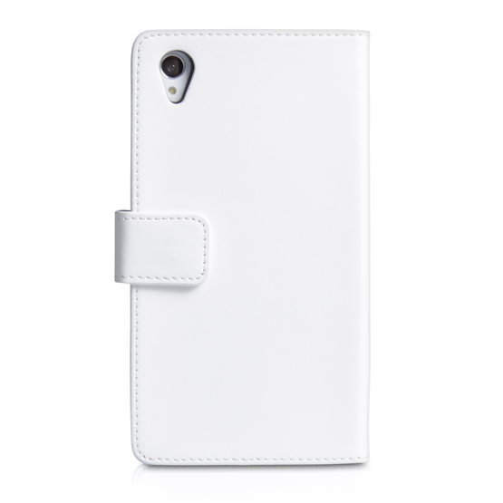 Yousave Accessories Sony Xperia Z1 Leather-Effect Wallet Case - White