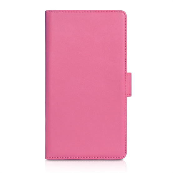 Yousave Accessories Sony Xperia Z1 Leather-Effect Wallet Case - Hot Pink