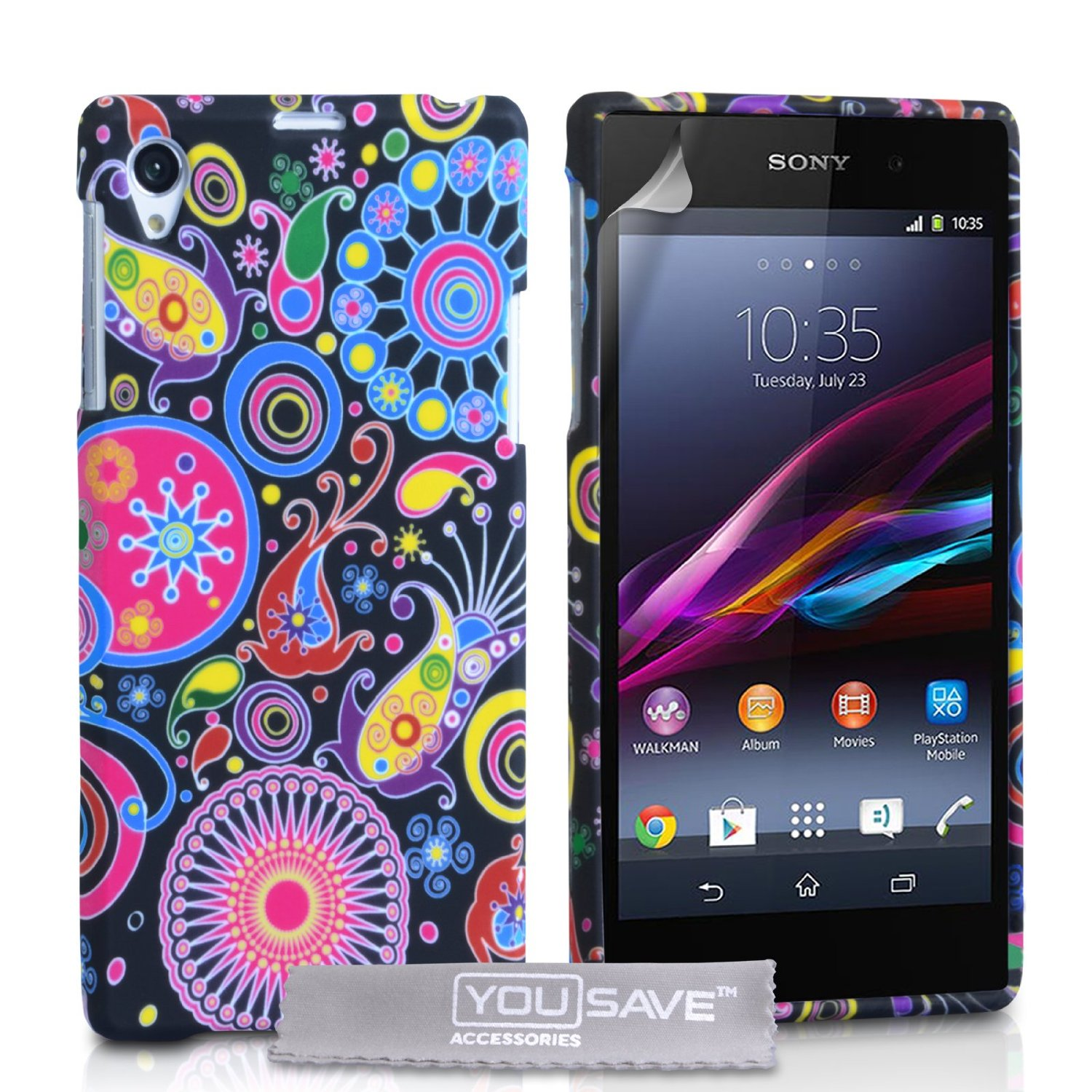 cheap for discount 780d7 90516 YouSave Accessories Sony Xperia Z1 Jellyfish Silicone Gel Case