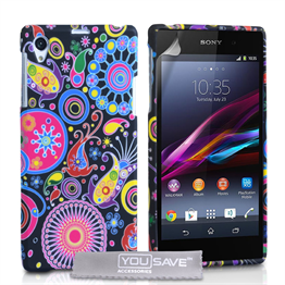 Yousave Accessories Sony Xperia Z1 Jellyfish Silicone Gel Case