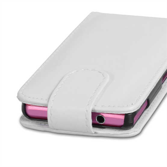 Yousave Accessories Sony Xperia Z1 Compact Leather-Effect Flip Case - White
