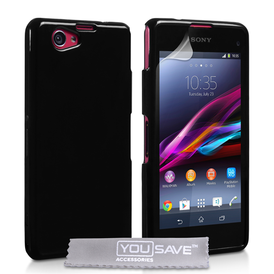 Yousave Accessories Sony Xperia Z1 Compact Black Tpu Gel