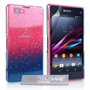 Yousave Accessories Sony Xperia Z1 Compact Raindrop Hard Case - Blue-Clear