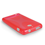 Yousave Accessories Sony Xperia E1 Silicone Gel X-Line Case - Red