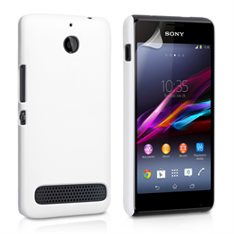 Yousave Accessories Sony Xperia E1 Hard Hybrid Case - White