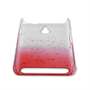 Yousave Accessories Sony Xperia E1 Raindrop Hard Case - Red-Clear