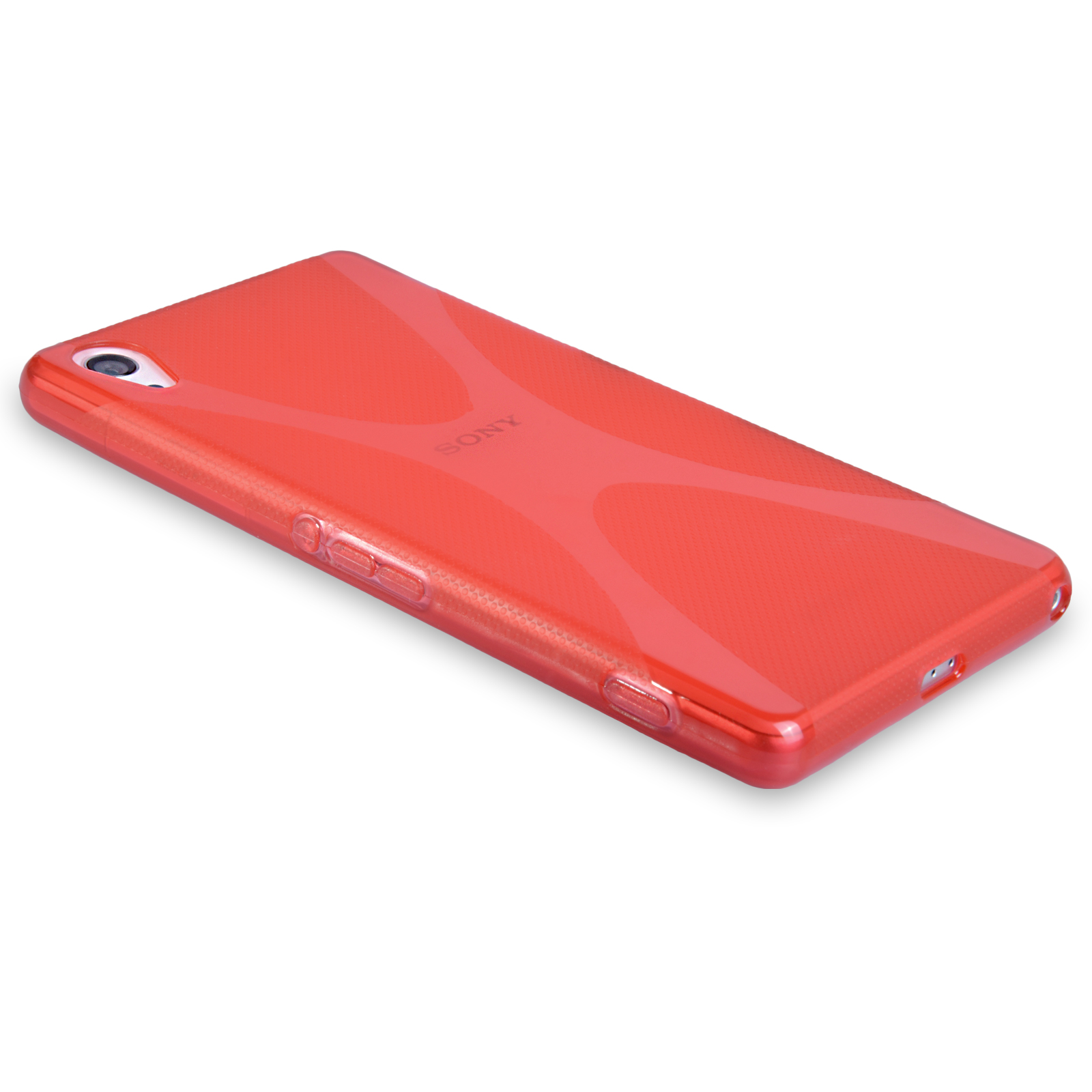 09c5eac1857e ... Yousave Accessories Sony Xperia Z2 Silicone Gel X-Line Case - Red ...