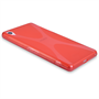 Yousave Accessories Sony Xperia Z2 Silicone Gel X-Line Case - Red