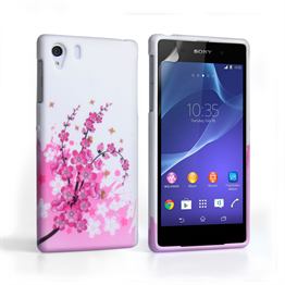 Yousave Accessories Sony Xperia Z2 Floral Bee Silicone Gel Case