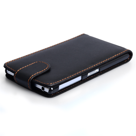 Yousave Accessories Sony Xperia Z2 Leather-Effect Flip Case - Black
