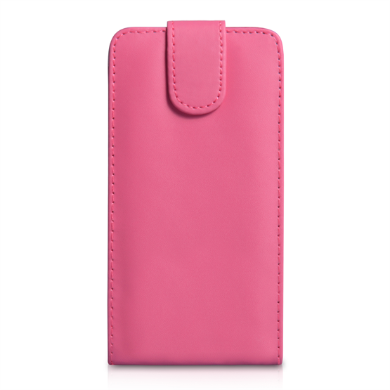 Yousave Accessories Sony Xperia Z2 Leather-Effect Flip Case - Hot Pink