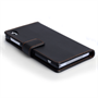 Yousave Accessories Sony Xperia Z2 Leather-Effect Wallet Case - Black