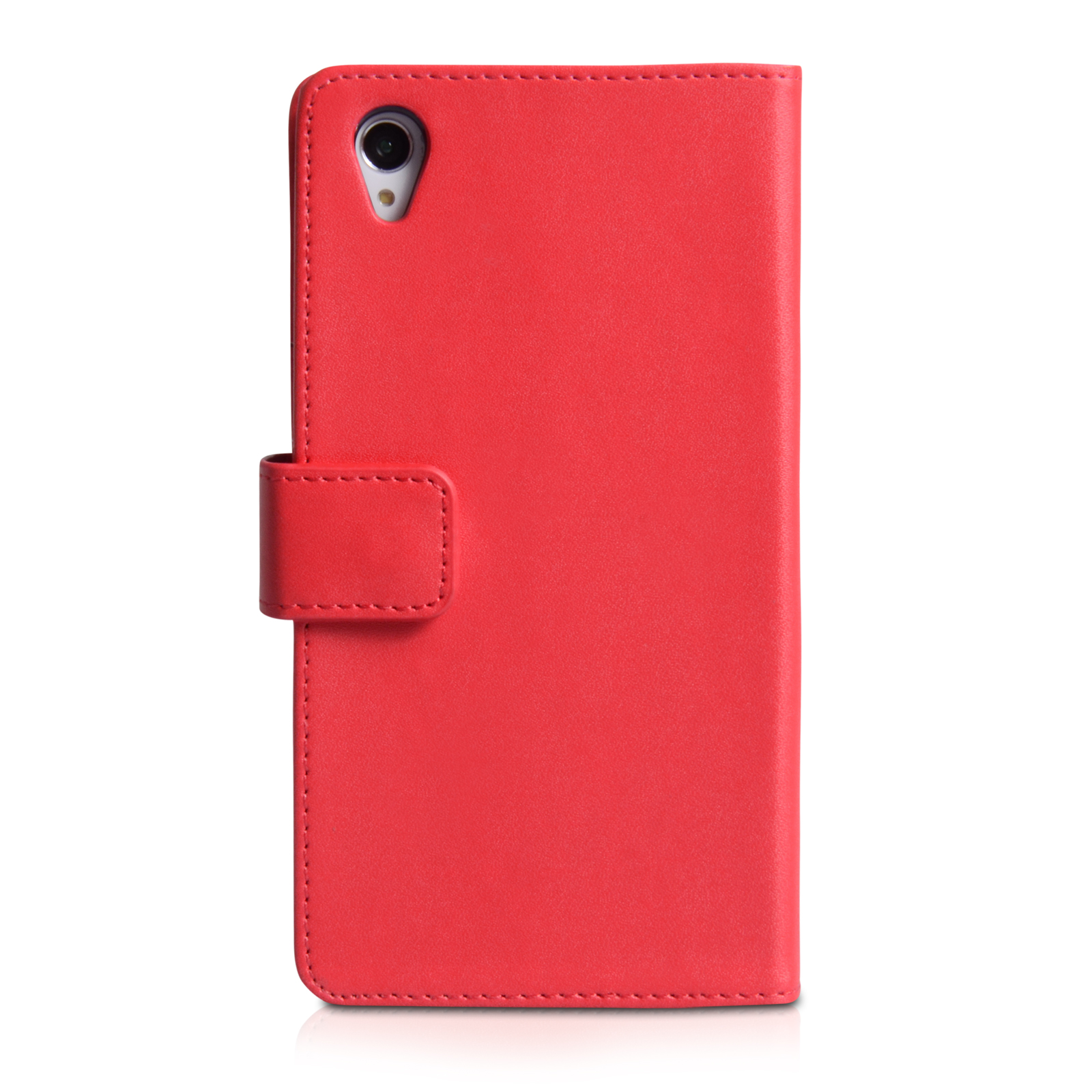 42f6bc5f2576 ... Yousave Accessories Sony Xperia Z2 Leather-Effect Wallet Case - Red ...