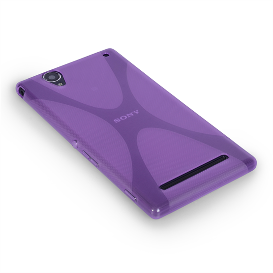 Yousave Accessories Sony Xperia T2 Ultra Silicone Gel X-Line Case - Purple