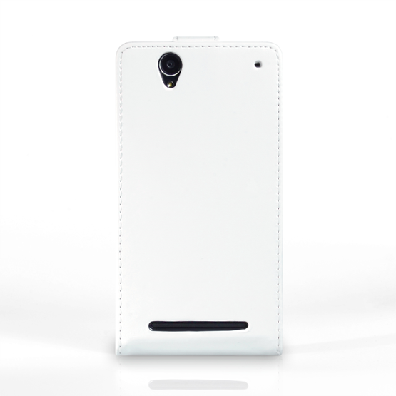 Yousave Accessories Sony Xperia T2 Ultra Leather-Effect Flip Case - White