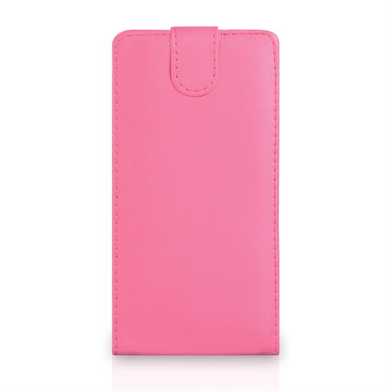 Yousave Accessories Sony Xperia T2 Ultra Leather-Effect Flip Case - Hot Pink