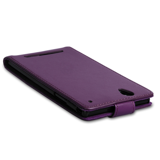 Yousave Accessories Sony Xperia T2 Ultra Leather-Effect Flip Case - Purple