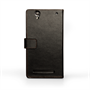 Yousave Accessories Sony Xperia T2 Ultra Leather-Effect Wallet Case - Black