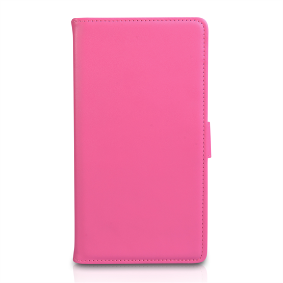 Yousave Accessories Sony Xperia T2 Ultra Leather-Effect Wallet Case - Hot Pink