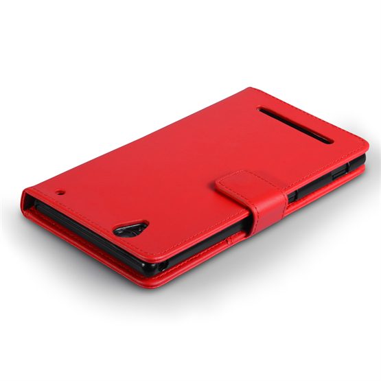 Yousave Accessories Sony Xperia T2 Ultra Leather-Effect Wallet Case - Red