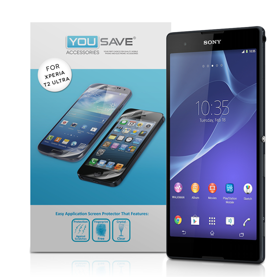 Yousave Accessories Sony Xperia T2 Ultra Screen Protectors X 3 Clear