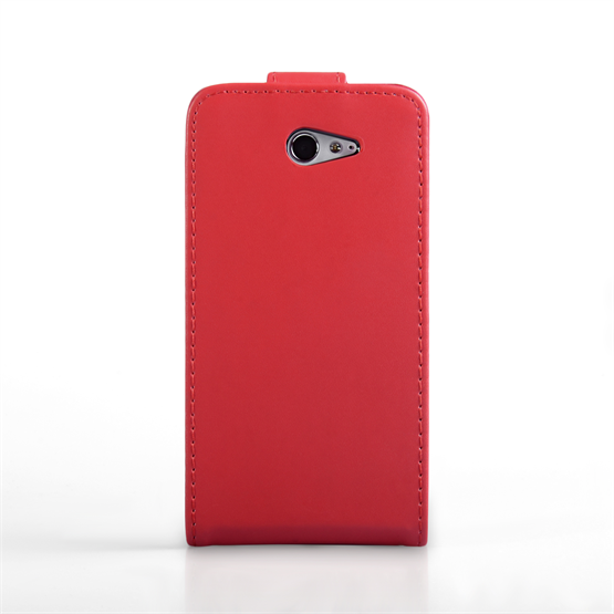Yousave Accessories Sony Xperia M2 Leather-Effect Flip Case - Red