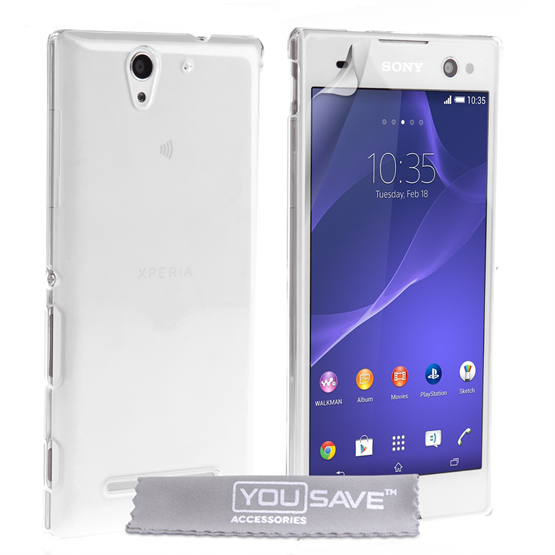 Yousave Accessories Sony Xperia C3 Hard Case - Crystal Clear