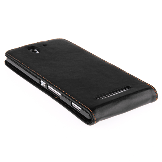 Yousave Accessories Sony Xperia C3 Leather-Effect Flip Case - Black