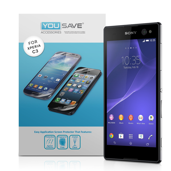 Yousave Sony Xperia C3 Screen Protector - 3 Pack