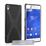 Yousave Accessories Sony Xperia Z3 Silicone Gel X-Line Case - Black