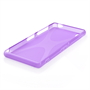 Yousave Accessories Sony Xperia Z3 Silicone Gel X-Line Case - Purple