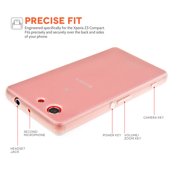 Yousave Accessories Sony Xperia Z3 Compact Silicone Gel Case - Clear