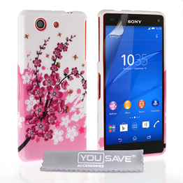 Yousave Accessories Sony Xperia Z3 Compact Floral Bee Silicone Gel Case