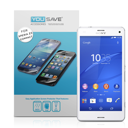 Yousave Accessories Sony Xperia Z3 Compact Screen Protector - 3 Pack