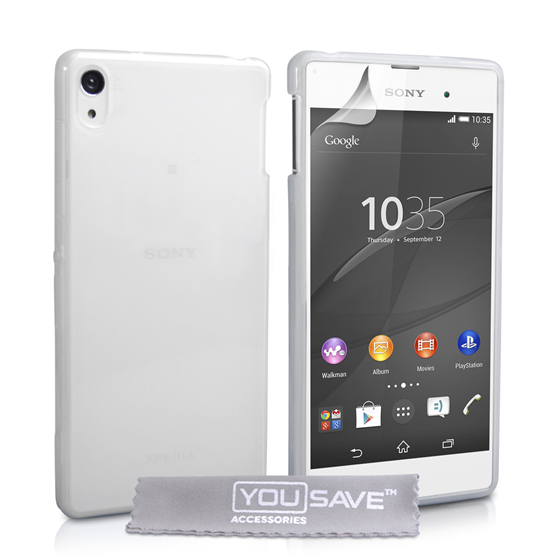Yousave Accessories Sony Xperia Z3+ Silicone Gel Case - Clear