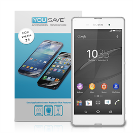 Yousave Accessories  Sony Xperia Z4 Screen Protector Three Pack