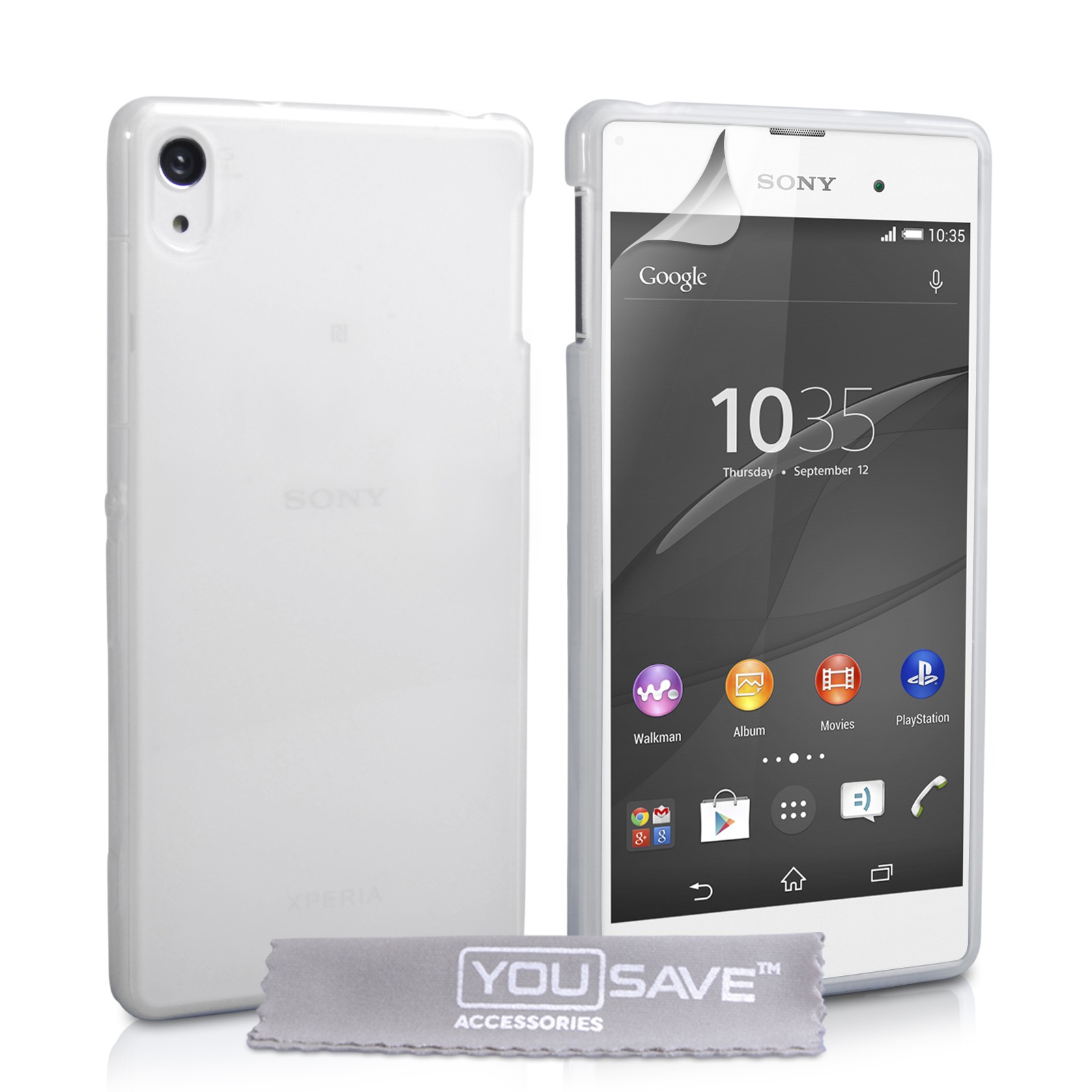 Yousave Accessories Sony Xperia Z3 0 6Mm Clear Gel Case