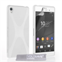 Yousave Accessories Sony Xperia Z3+ Silicone Gel X-Line Case - White