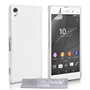 Yousave Accessories Sony Xperia Z3+ Hard Hybrid Case - White