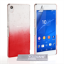 Yousave Accessories Sony Xperia Z3+ Raindrop Hard Case - Red-Clear