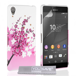 Yousave Accessories Sony Xperia Z3+ Floral Bee Silicone Gel Case