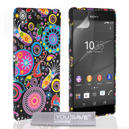 Yousave Accessories Sony Xperia Z3+ Jellyfish Silicone Gel Case