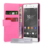 Yousave Accessories Sony Xperia Z3+ Leather-Effect Wallet Case - Hot Pink