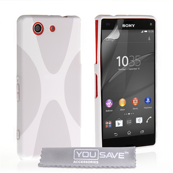 Yousave Accessories Sony Xperia Z4 Compact Silicone Gel X-Line Case - White
