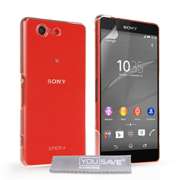 Yousave Accessories Sony Xperia Z4 Compact Hard Case - Crystal Clear