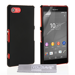 Yousave Accessories Sony Xperia Z4 Compact Hard Hybrid Case - Black