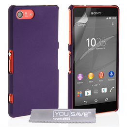 Yousave Accessories Sony Xperia Z4 Compact Hard Hybrid Case - Purple