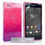 Yousave Accessories Sony Xperia Z4 Compact Raindrop Hard Case - Purple-Clear